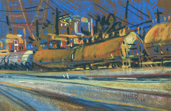Train Art Print featuring the painting Canton Tracks by Donald Maier