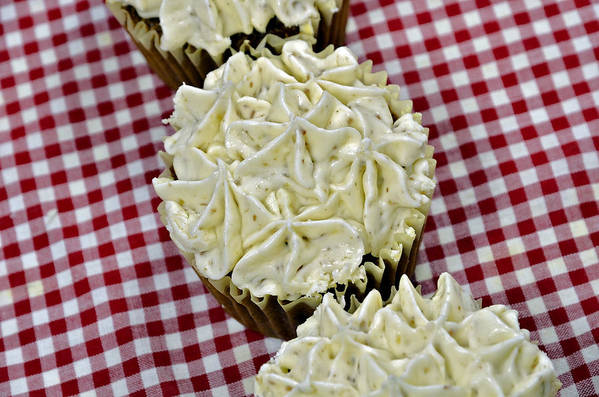 Baking Art Print featuring the photograph Carrot Cupcakes by Susan Leggett