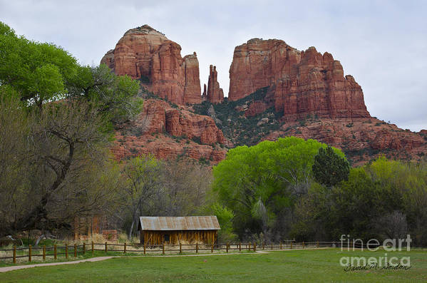 Cathedral Art Print featuring the photograph Cathedral Rock V by Dave Gordon