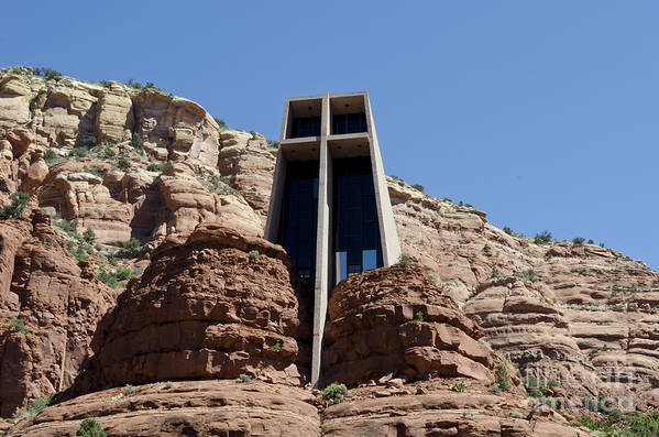 Chapel. Holy Art Print featuring the photograph Chapel Of The Holy Cross by David Gordon