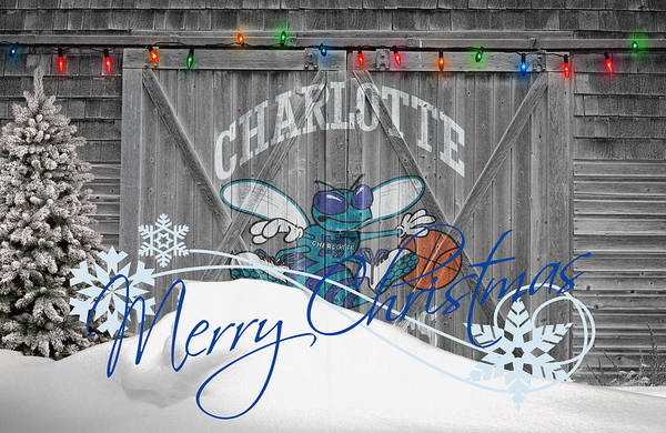 Hornets Art Print featuring the photograph Charlotte Hornets by Joe Hamilton