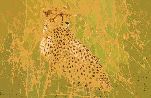 Cheetah Art Print featuring the digital art Cheetah by Ronald Jansen