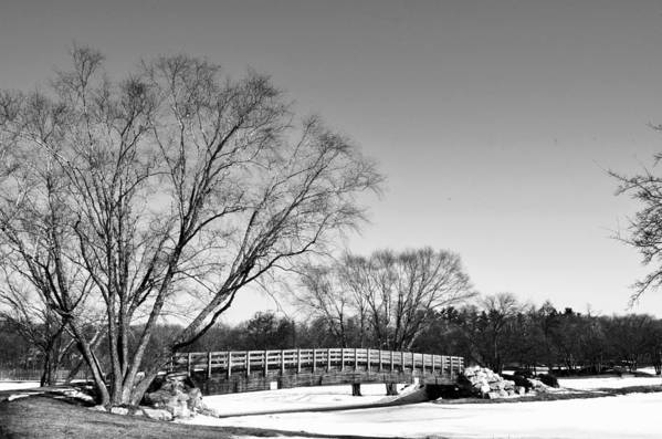 Bridge Art Print featuring the photograph Chilly Walk by Larry Jones