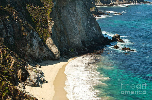 Point Lobos Art Print featuring the photograph China Cove At Point Lobos State Beach by Artist and Photographer Laura Wrede