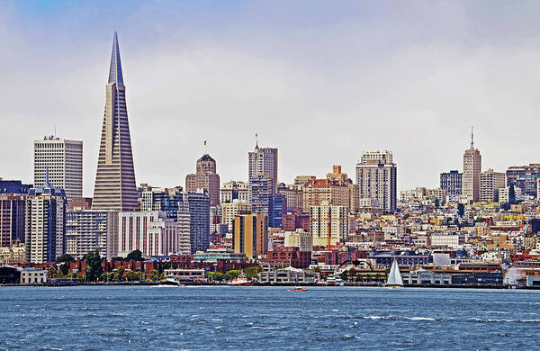 San Francisco Print featuring the photograph City By The Bay by Sindi June Short