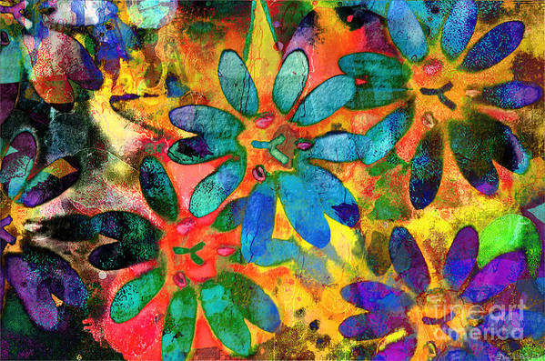 Nature Art Print featuring the photograph Colorful Floral Abstract IIi by Debbie Portwood