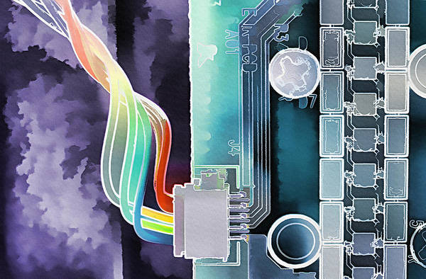 Technology Art Print featuring the photograph Computing by Steve Ohlsen