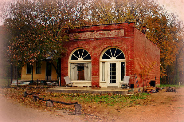 Cook Station Art Print featuring the photograph Cook Station Bank by Marty Koch