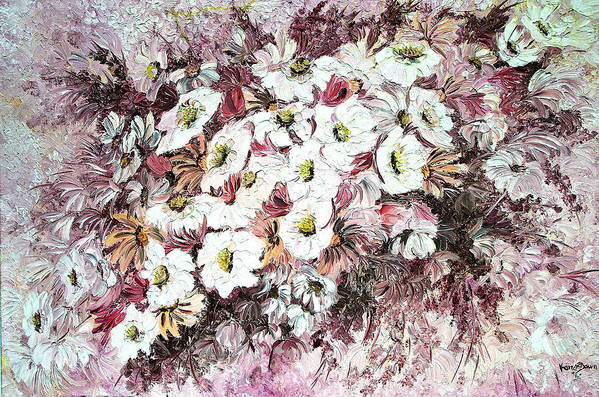 Art Print featuring the painting Daisy Blush Remix by Karin Dawn Kelshall- Best