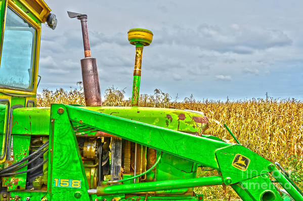 Tractor Art Print featuring the photograph Deere 158 by Baywest Imaging