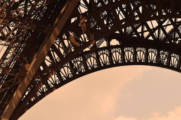 Landmark Eiffel Tower Paris France Photography Art Print featuring the photograph Eiffel Tower Paris France Arc by Patricia Awapara