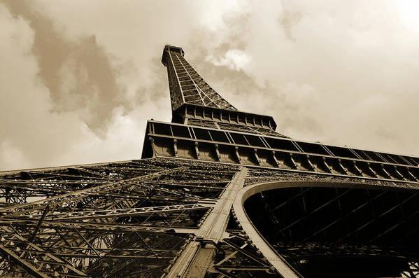 Eiffel Tower Paris France Photography Art Print featuring the photograph Eiffel Tower Paris France Black And White by Patricia Awapara