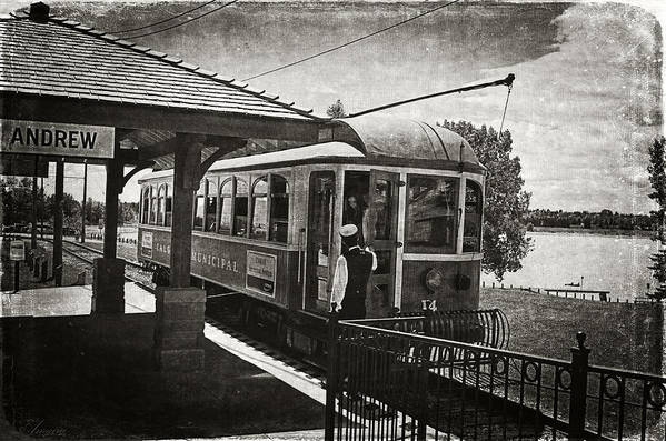 Streetcar Art Print featuring the photograph Electric Streetcar I by Maria Angelica Maira