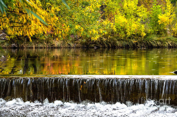Fall Print featuring the photograph Fall Falls by Baywest Imaging