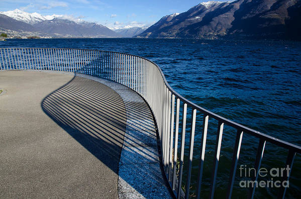 Banister Art Print featuring the photograph Fence With Shadow by Mats Silvan