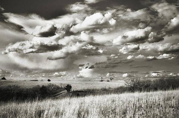 Flint Hills Prairie Art Print featuring the photograph Flint Hills Prairie by Thomas Bomstad
