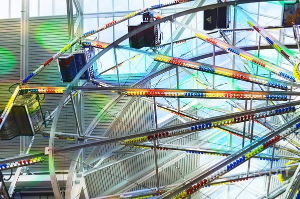 Flying Inside Ferris Wheel Art Print featuring the photograph Flying Inside Ferris Wheel by Luther Fine Art