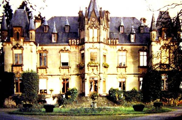French Chateau 1955 Art Print featuring the photograph French Chateau 1955 by Will Borden