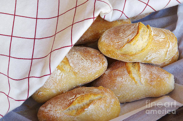 Background Art Print featuring the photograph Fresh Bread by Carlos Caetano