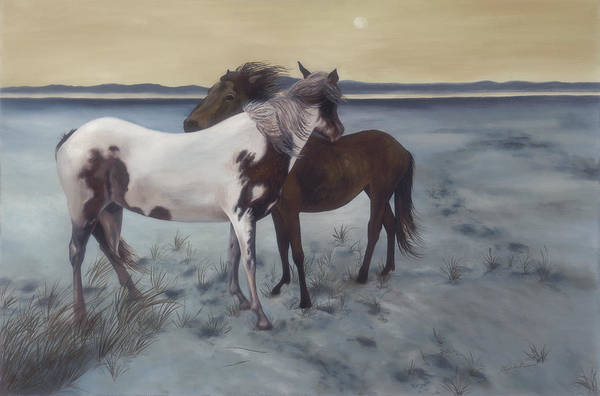 Horses Art Print featuring the painting Friends by Glenda Stevens