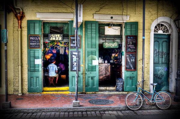 New Orleans Art Print featuring the photograph Fritzels Bar On Bourbon Street by Ray Devlin