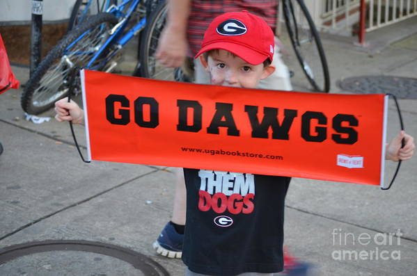 Georgia Bulldogs Art Print featuring the photograph Game Day by Charles Woodall
