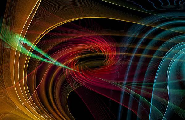 Contemporary Print featuring the digital art Geometric 8 by Mark Ashkenazi