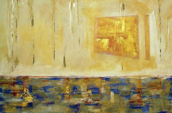 Gold Art Print featuring the painting Gold # II by Karen Lawson
