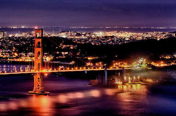 Golden Gate Bridge Art Print featuring the photograph Golden Gate Bridge by Robert Rus