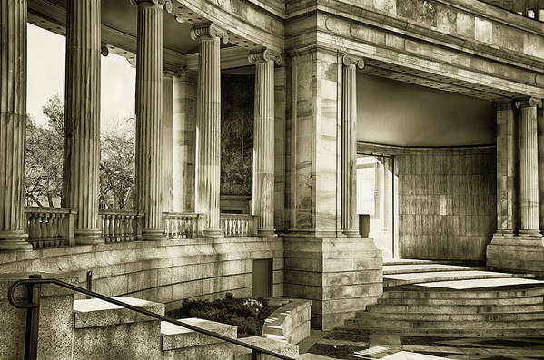Greek Art Print featuring the mixed media Greek Theatre 7 Golden Age by Angelina Vick