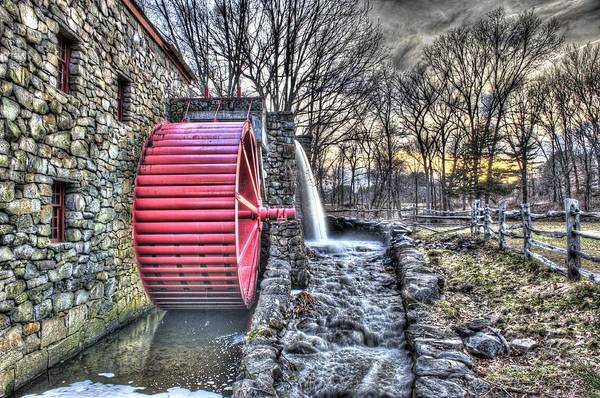 Grist Art Print featuring the photograph Grist Mill Sudbury by Adam Green