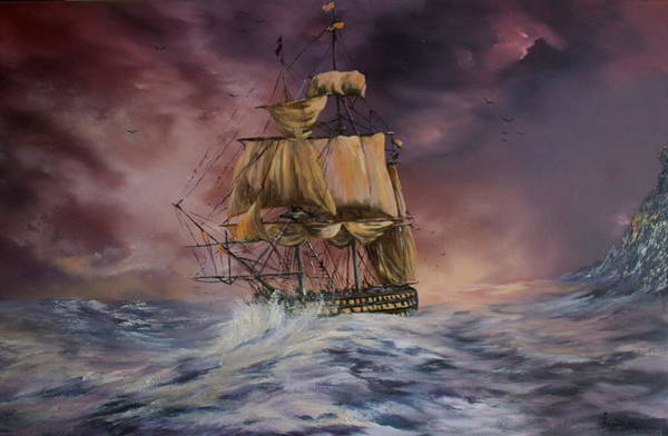 H.m.s Victory Art Print featuring the painting H.m.s Victory by Jean Walker
