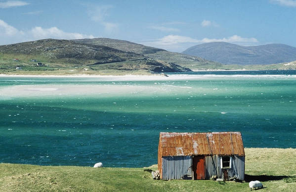 Photographic Print featuring the photograph Hut On West Coast Of Isle by Rob Penn