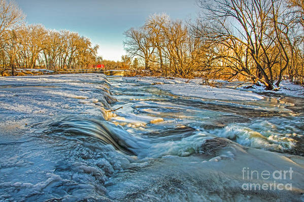 Ice Falls Art Print featuring the photograph Ice Falls 2 by Baywest Imaging