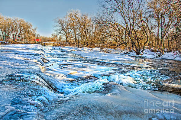 Ice Falls Art Print featuring the photograph Ice Falls by Baywest Imaging