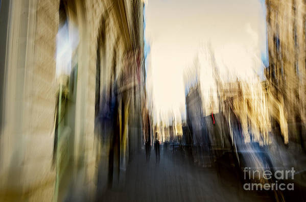 Blur Art Print featuring the relief In The Canyons Of The City by Michaela Sibi