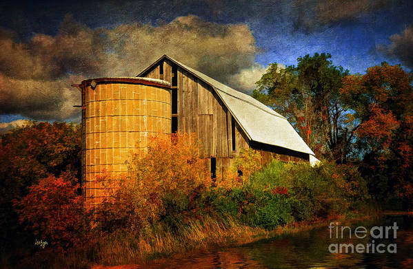 Barn Print featuring the photograph In The Gloaming by Lois Bryan