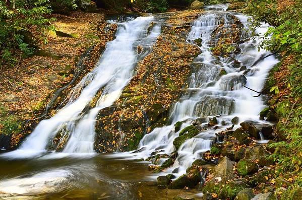 Blue Ridge Mountains Art Print featuring the photograph Indian Creek Falls by Walt Sterneman