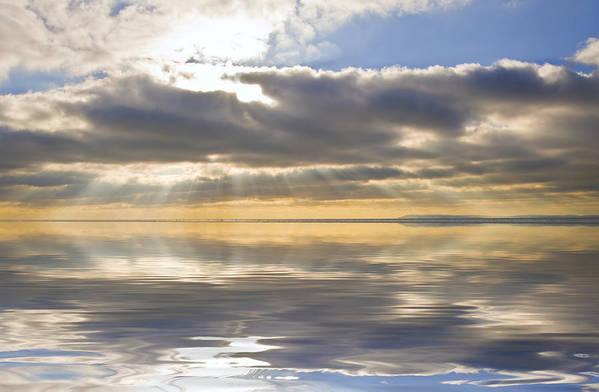 Sunset Art Print featuring the photograph Inspiration Reflection by Matthew Gibson