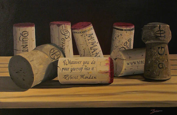 Wine Art Art Print featuring the painting Inspirational by Brien Cole