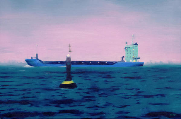 Ship Art Print featuring the painting Iva Und Bernds Schiff by Eckhard Besuden