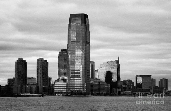 Usa Art Print featuring the photograph Jersey City New Jersey Waterfront And 10 Exchange Place New York City by Joe Fox