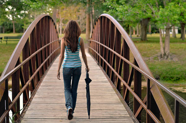 Walk Art Print featuring the photograph Just Walk Away Renee by Laura Fasulo