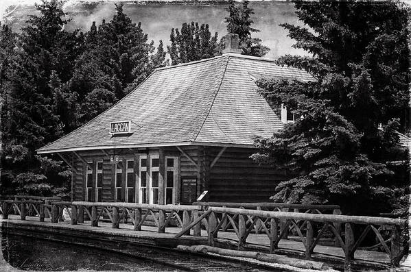 Station Art Print featuring the photograph Laggan Station I by Maria Angelica Maira