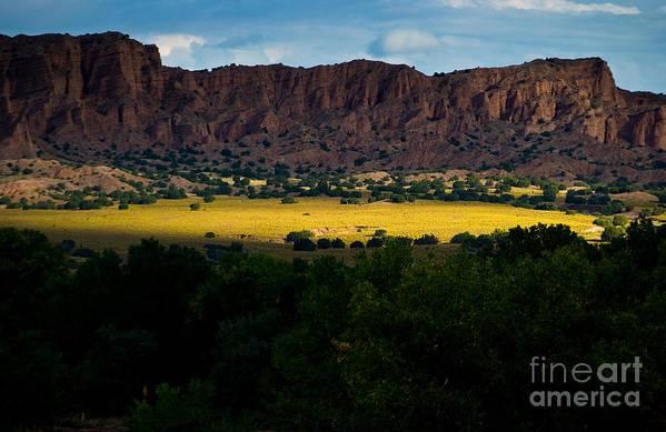 Black Mesa Art Print featuring the photograph Landscape 22 E Los Alamos Nm by Otri Park