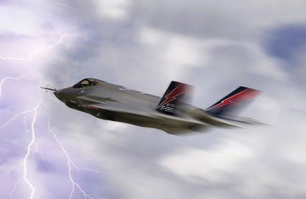 F-35 Art Print featuring the digital art Lightning Speed by Peter Chilelli