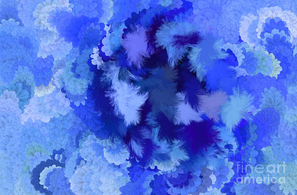 Flowers Art Print featuring the digital art Lilac Of The Valley Blue White by Holley Jacobs