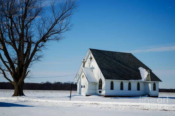 Little Church On The Prairie Art Print featuring the photograph Little Church On The Prairie by Luther Fine Art