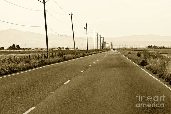 Road Picture Art Print featuring the photograph Long Road Home by Artist and Photographer Laura Wrede