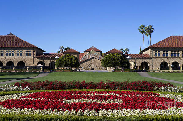 Stanford University Art Print featuring the photograph Main Quad Stanford California by Jason O Watson